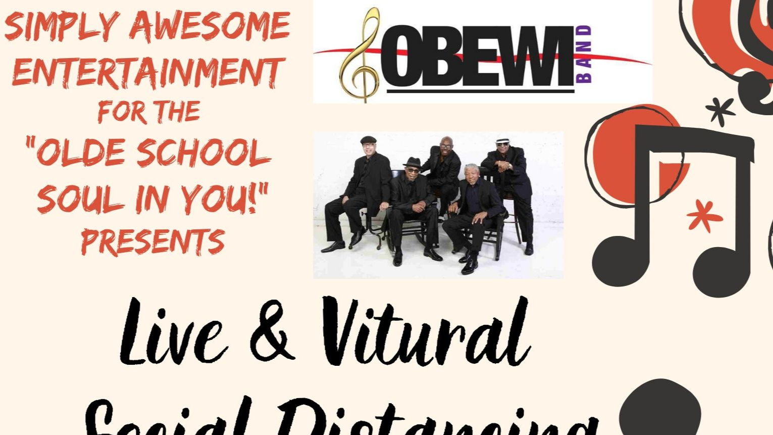 Thumbnail for OBEWI BAND Sunday May 24th LIVE Virtual Outdoor Concert Series on ViewStub