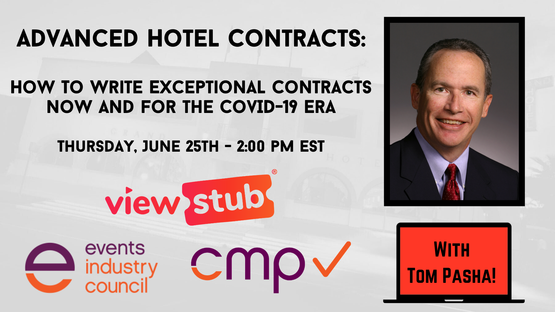 Thumbnail for Advanced Hotel Contracts NOW and for the COVID 19 Era on ViewStub