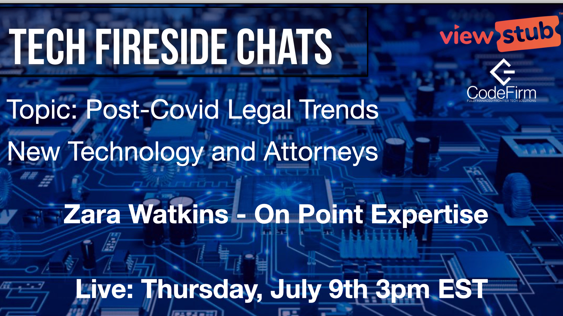 Thumbnail for Post-Covid Legal Trends and Technology on ViewStub