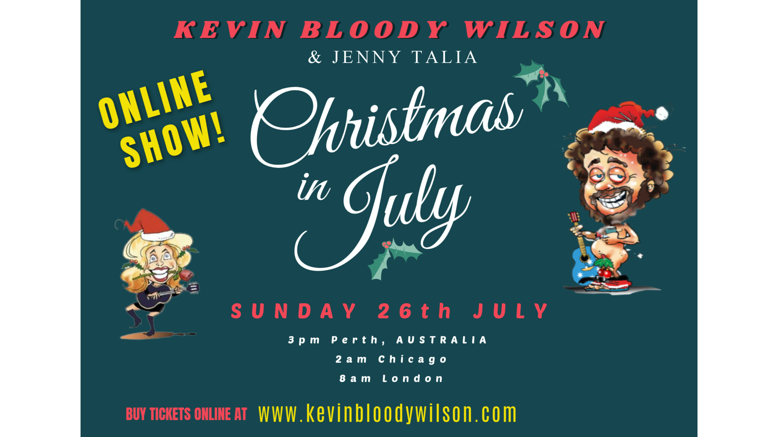Photo for CHRISTMAS IN JULY with Kevin Bloody Wilson & Jenny Talia from Australia on ViewStub