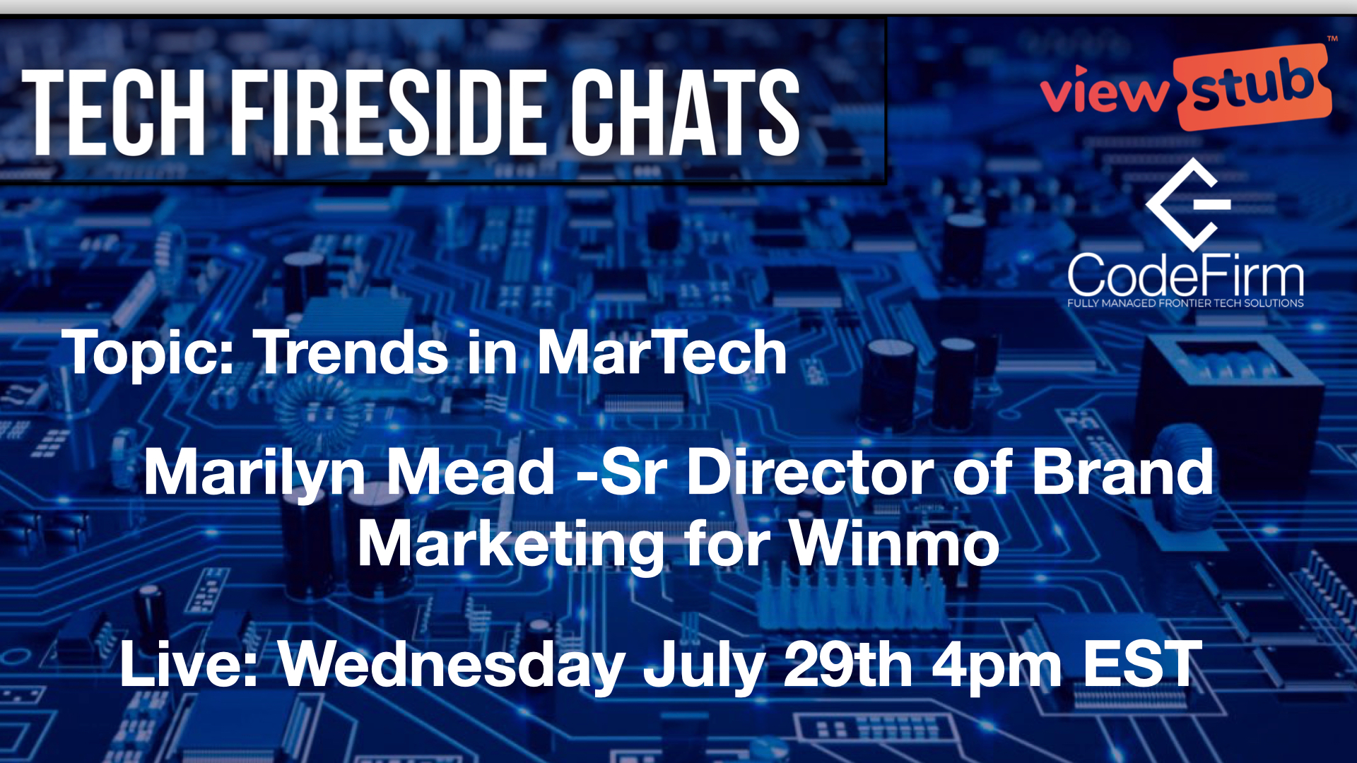 Thumbnail for Episode 11 Trends in MarTech with Marilyn Mead on ViewStub