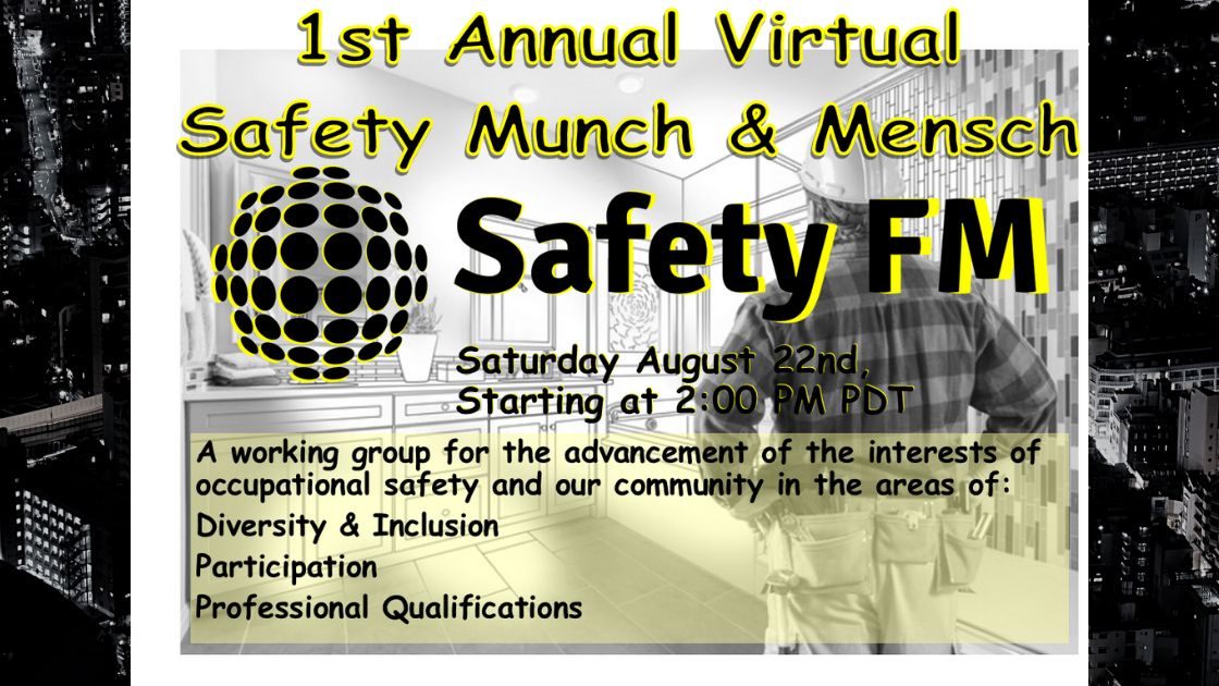 Thumbnail for 1st Annual Virtual Safety Munch & Mensh powered by Safety FM on ViewStub