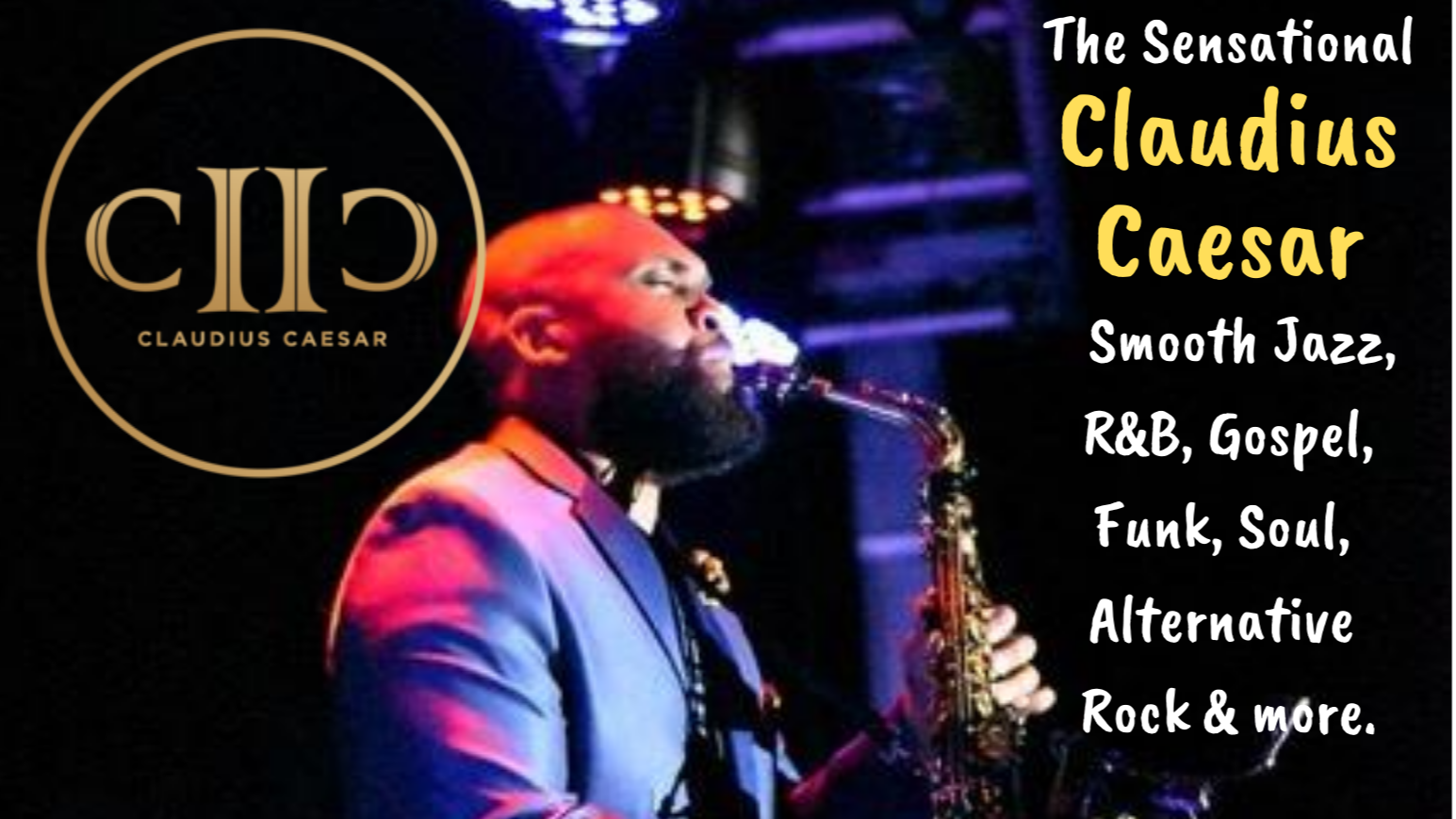 Thumbnail for Saxophonist Claudius Caesar @ The Quality Inn in Fayetteville GA on ViewStub