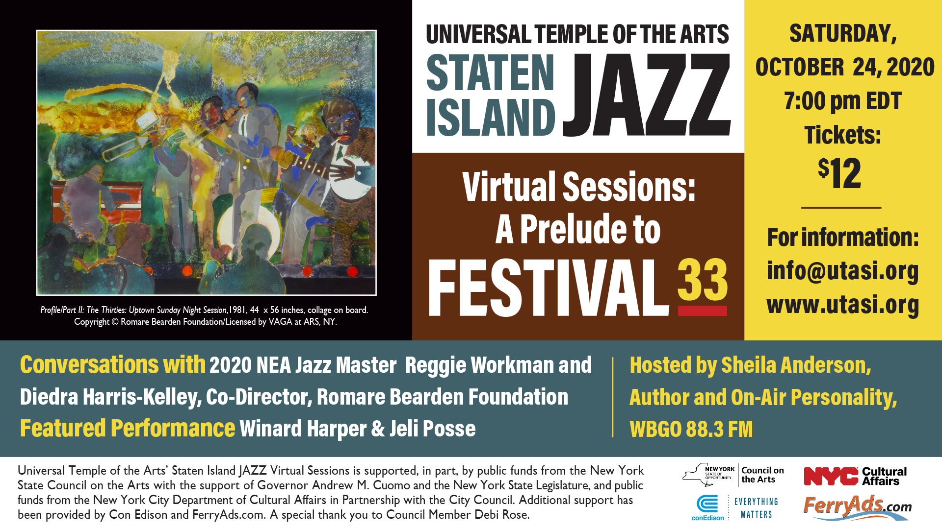 Photo for UTA Staten Island JAZZ Virtual Sessions on ViewStub