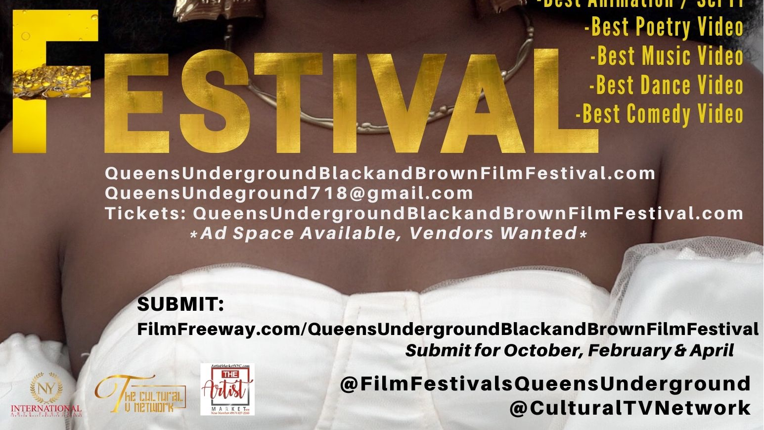 Photo for Queens Underground October 2020 Film Festival 4-Day Replay on ViewStub