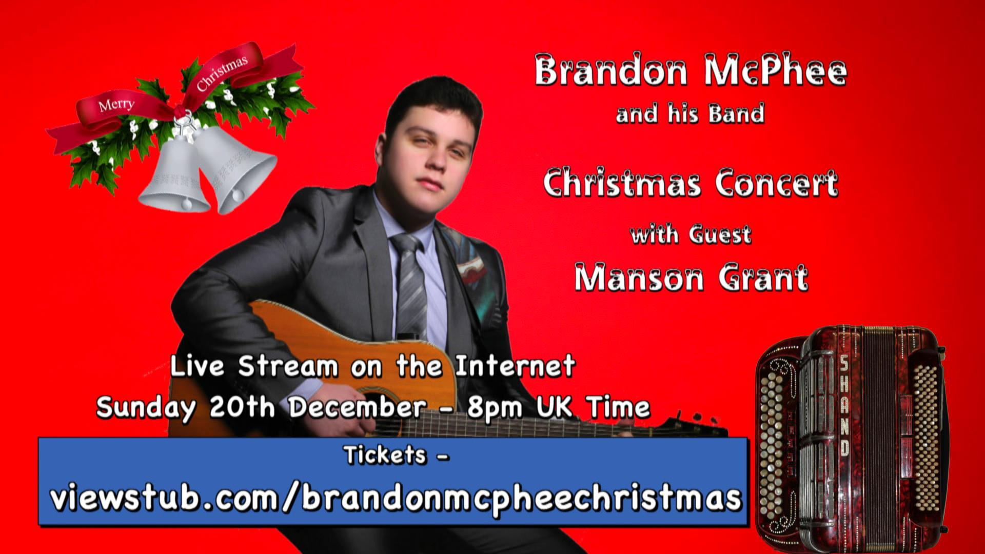 Photo for Brandon McPhee Christmas Concert 2020 on ViewStub