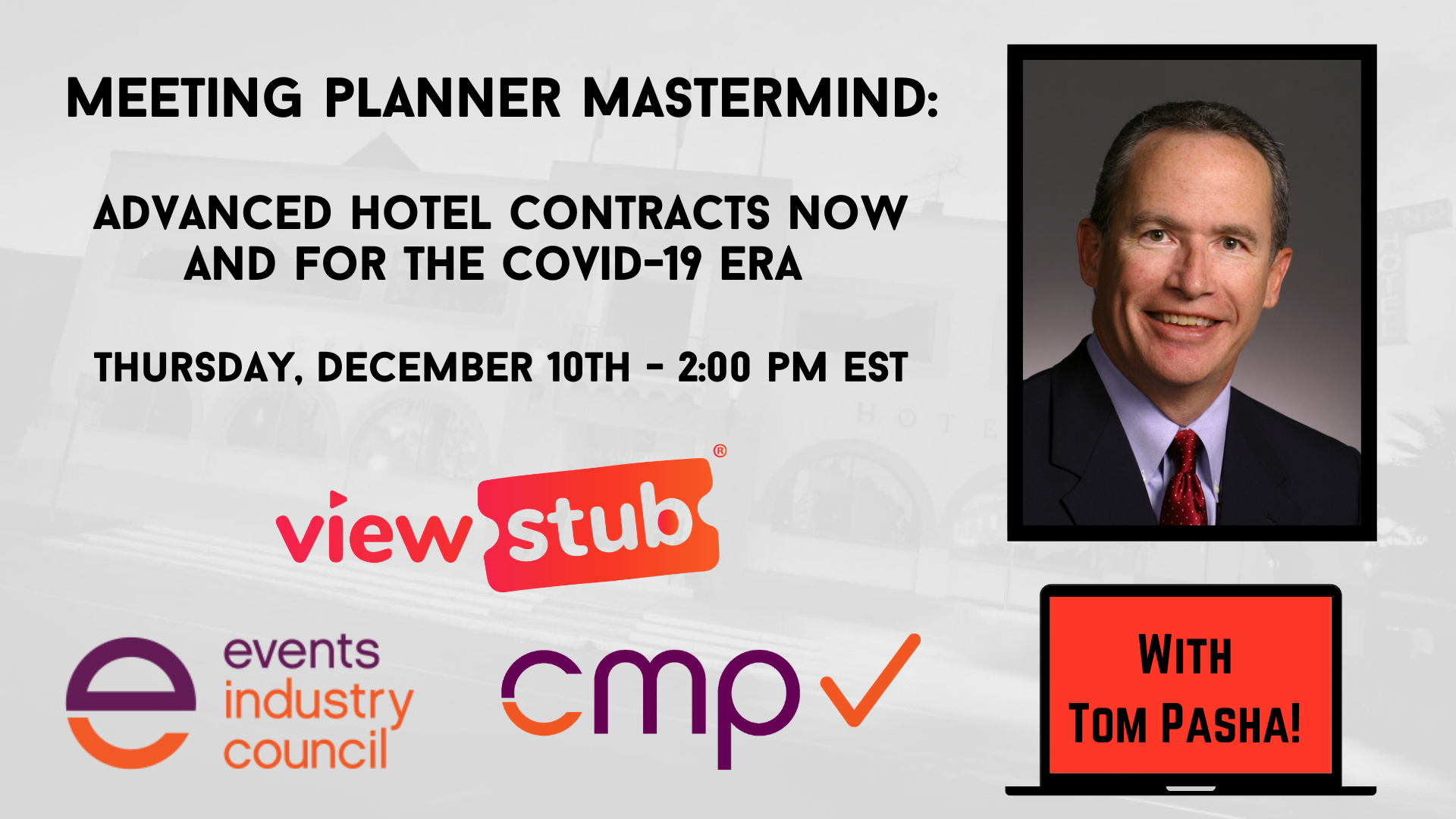 Photo for Advanced Hotel Contracts NOW and for the COVID 19 Era on ViewStub