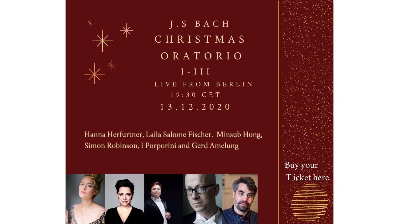 Photo for J.S Bach  Christmas Oratorio, Live from Berlin on ViewStub