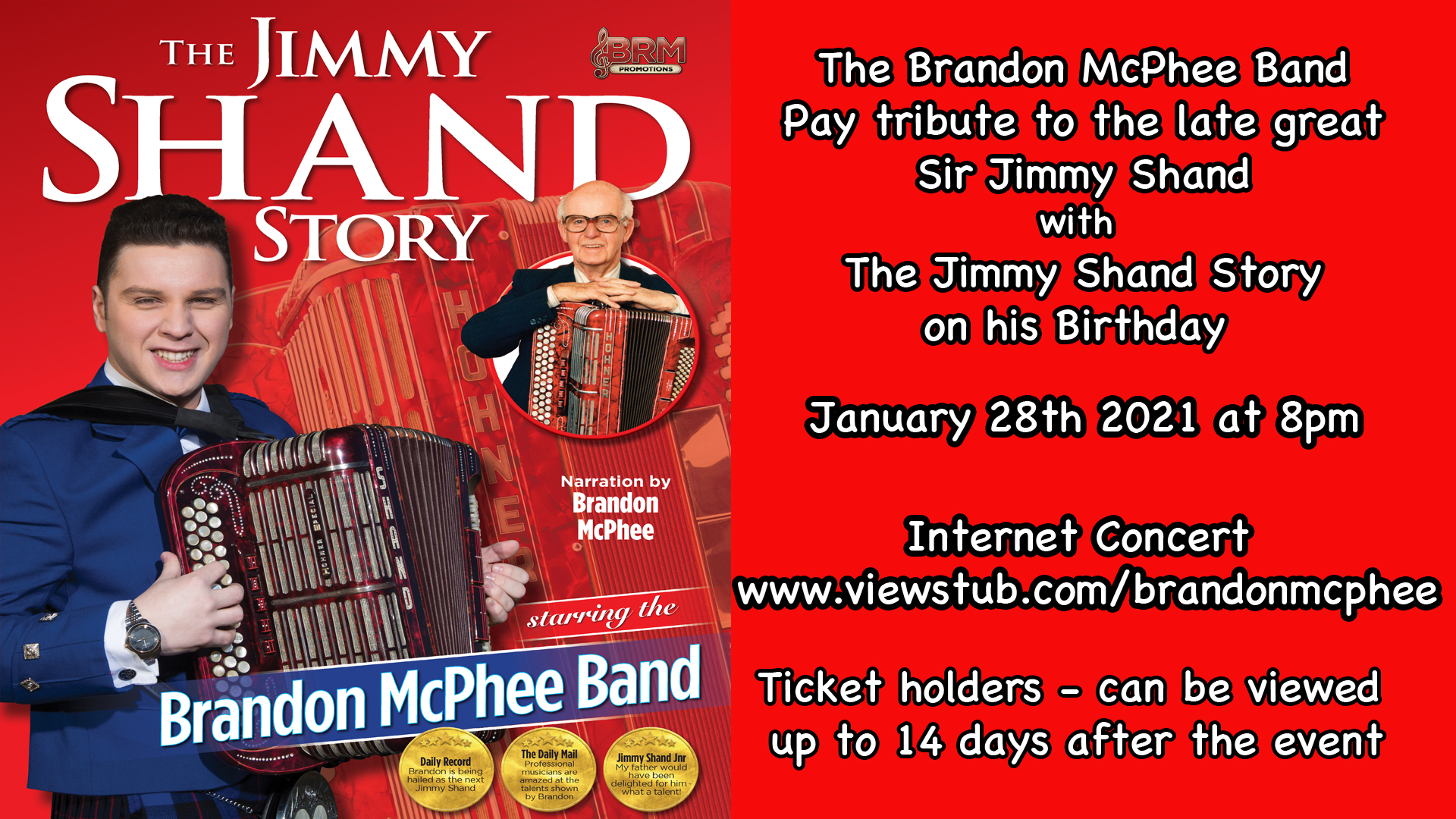 Photo for Brandon McPhee Band Presents The Sir Jimmy Shand Story on ViewStub