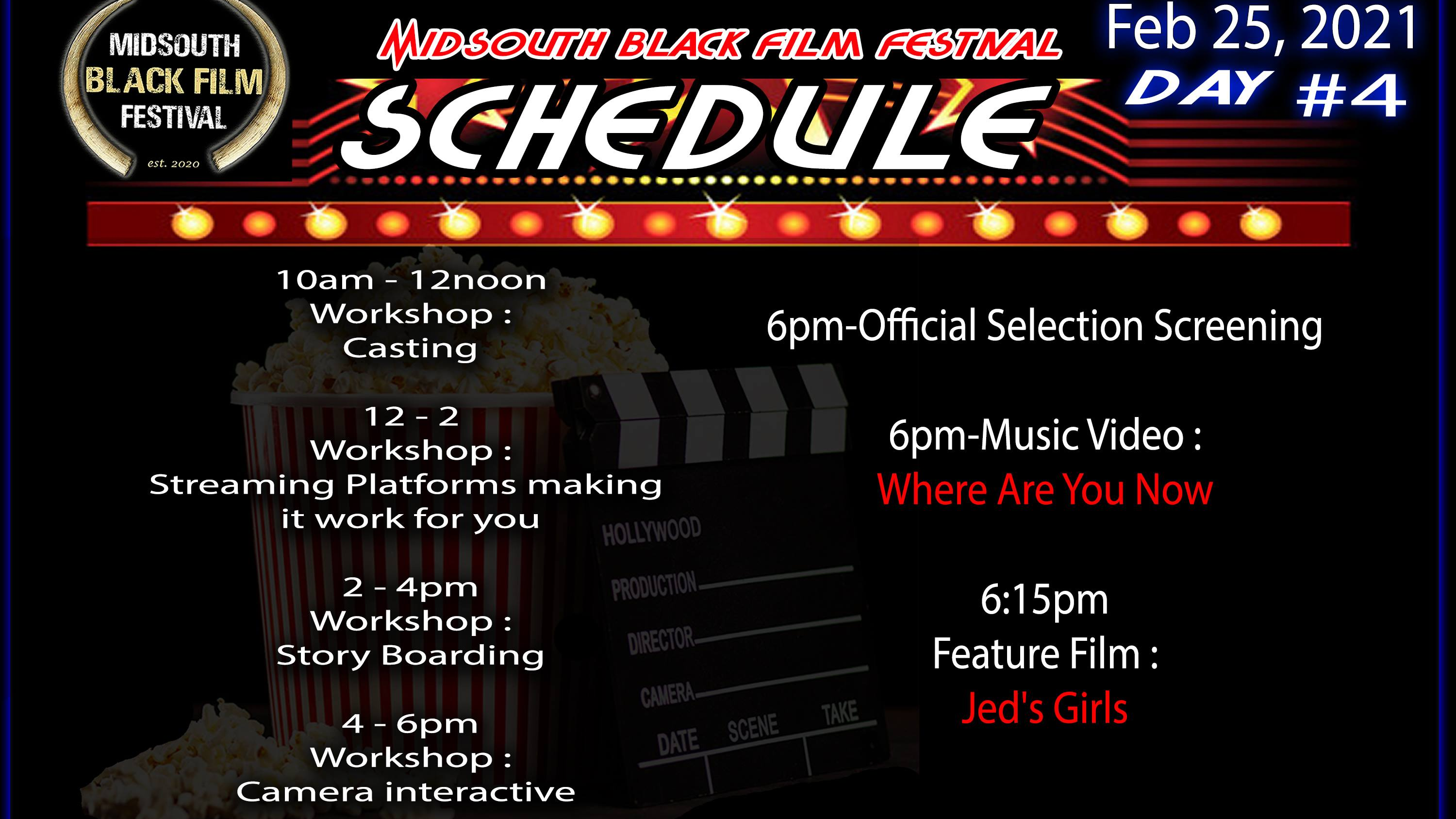 Photo for Official Screenings(PM-Day 4) Midsouth Black Film Festival 2021 on ViewStub