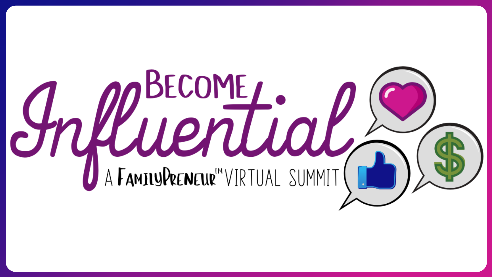 Photo for Become Influential Virtual Summit on ViewStub
