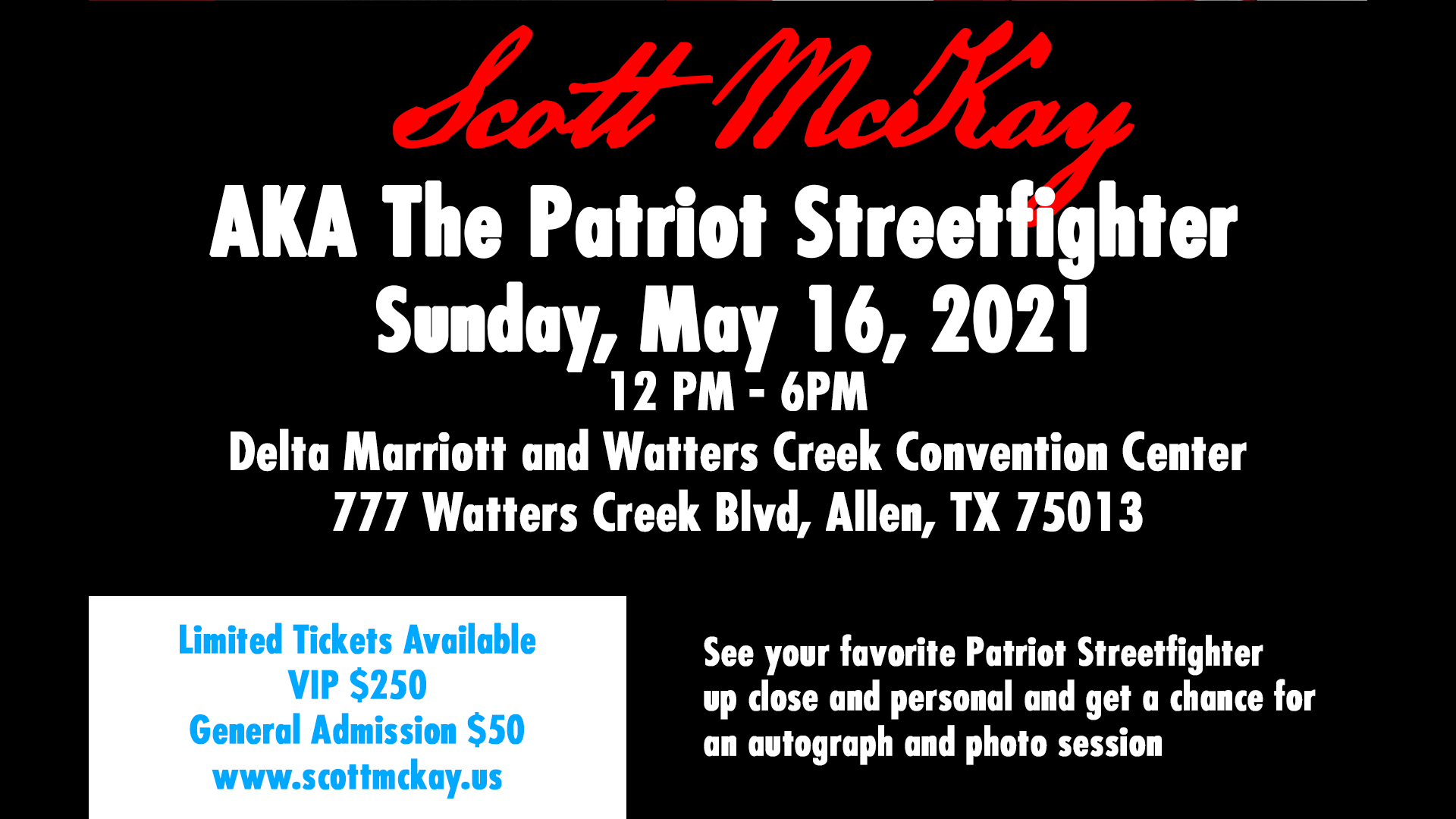 Photo for Scott McKay's 'Calling Down the Thunder' Meet and Greet Fundraiser Dallas on ViewStub