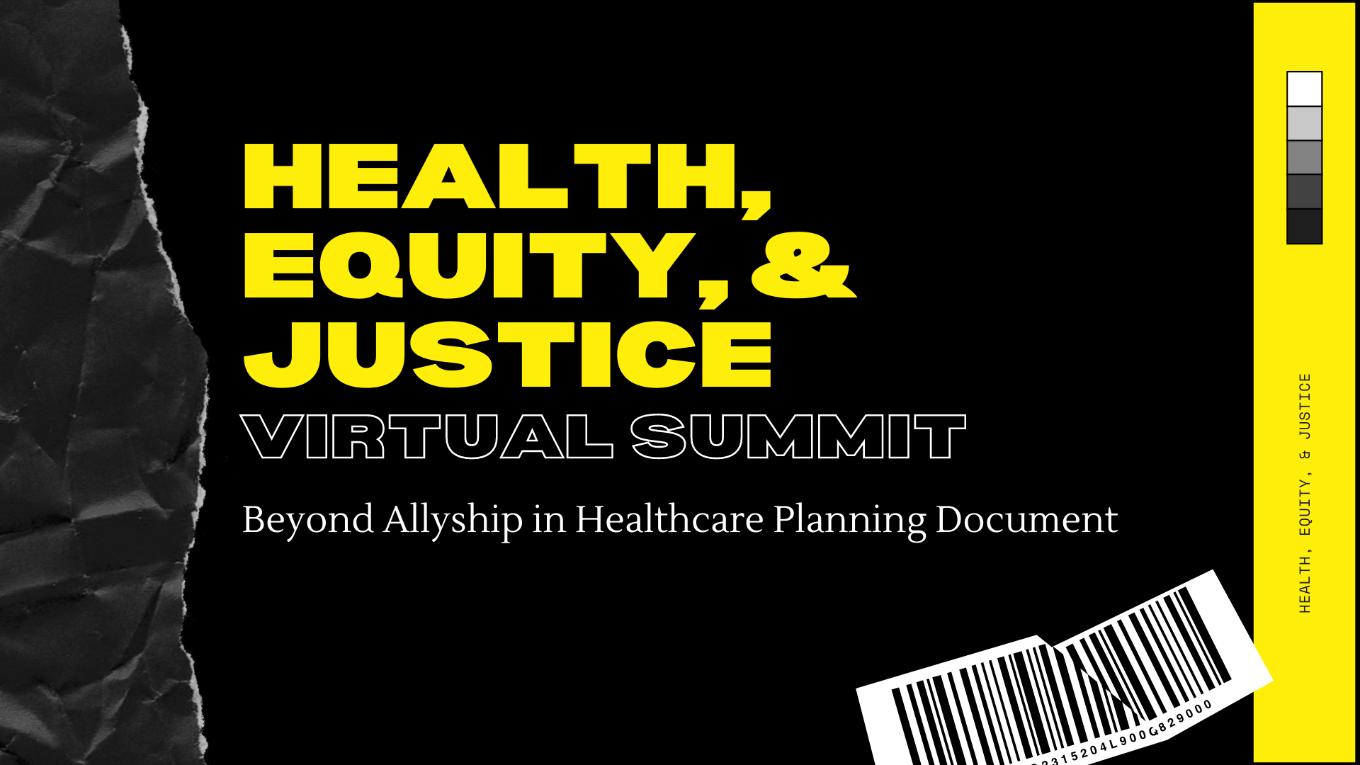 Photo for Health, Equity, and Justice Virtual Summit: Beyond Allyship in Healthcare Planning Document on ViewStub